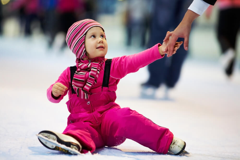 обучение катанию на коньках для детей
